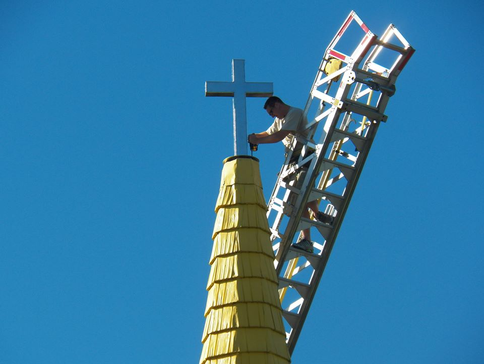 New Cross on the Yellow Steeple